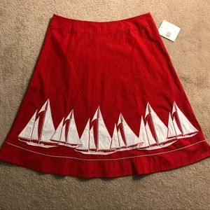 Liz Claiborne American Getaway red and white skirt